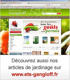 Nos articles de jardinage sur www.ets-gangloff.fr